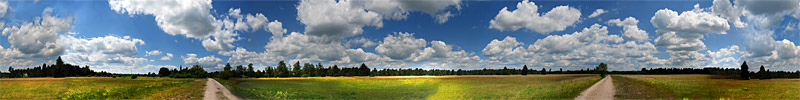 Heath Landscape, Fröttmaninger Heide, Munich -  panorama - click to open it in a new window